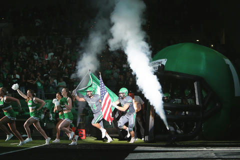Hype building for No. 17 UND football vs. Weber State on Saturday