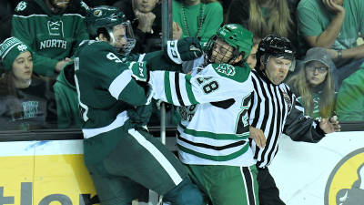UND earns sweep with 5-4 win over Bemidji State