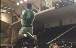 WATCH: Slam dunk contest at UND\'s Basketball fan fest