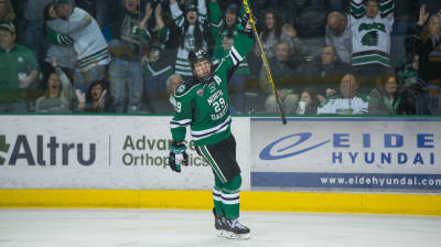 UND enters home stretch ranked No. 2 nationally